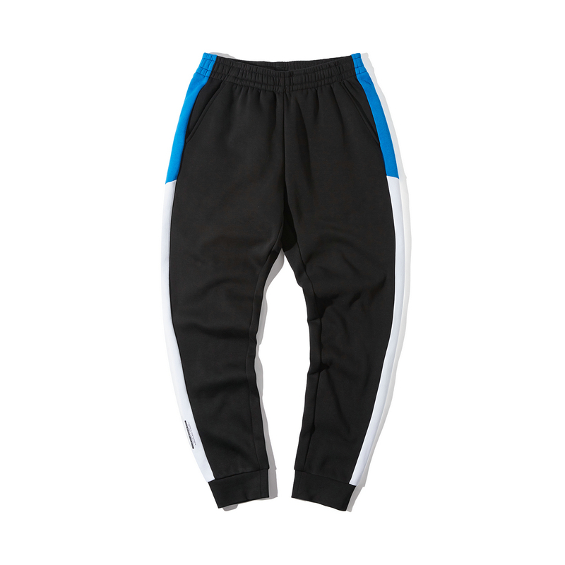 特步 男子针织长裤 19冬新款时尚条纹百搭运动裤881429639258