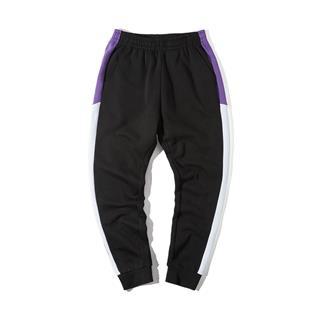 特步 男子针织长裤 时尚条纹百搭运动裤881429639258