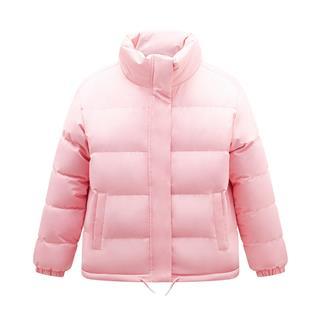 特步 专柜款 女子羽绒服 短款立领保暖运动外套981428190470