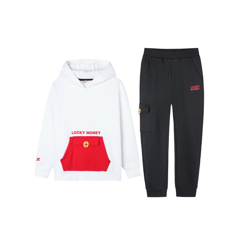 【红包款】特步 儿童套装 2019冬季新款休闲长袖针织套装681426349280