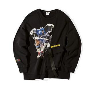 【DC蝙蝠侠联名款】特步 专柜款 男子卫衣 潮流套头衫981429920494