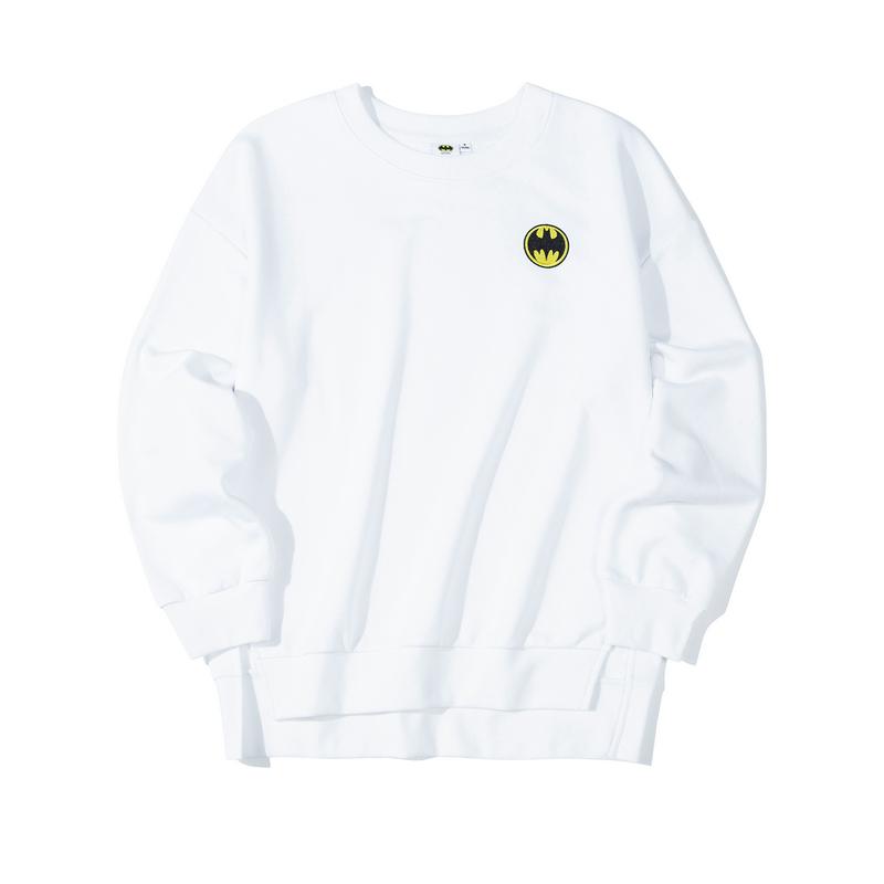 【DC蝙蝠侠联名款】特步  女子卫衣 19新款休闲圆领套头衫881428059222