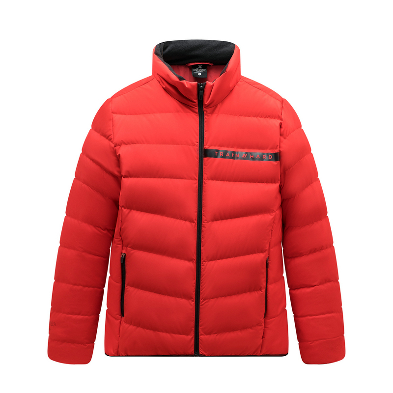 特步 专柜款 男子羽绒服 运动立领加厚棉衣男装外套981429190181