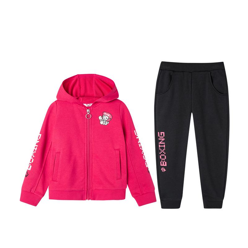特步 儿童针织套装 2019冬季新款休闲时尚针织长袖套装681324349197