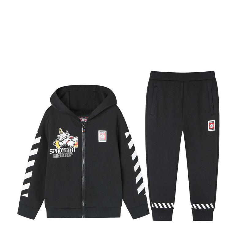 特步 儿童针织套装 2019秋季新款长袖针织休闲运动套装681325349178
