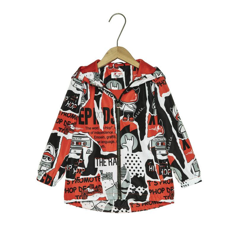 特步 专柜款 儿童风衣 2019春季新款男童小童宝宝双层保暖风衣外套681125334001