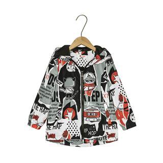 特步 专柜款 儿童风衣 男童小童宝宝双层保暖风衣外套681125334001