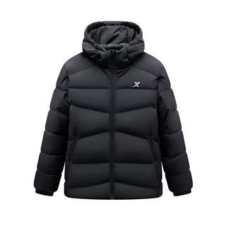 特步 专柜款 男子冬季综训运动时尚保暖连帽羽绒服981429190201