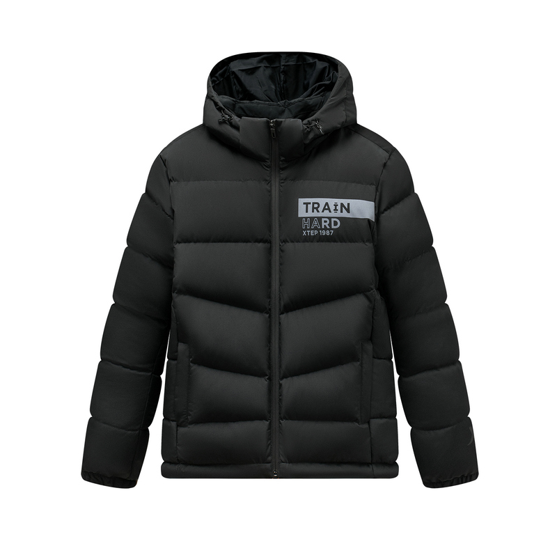 特步 专柜款 男子冬季保暖舒适综训运动连帽羽绒服981429190521