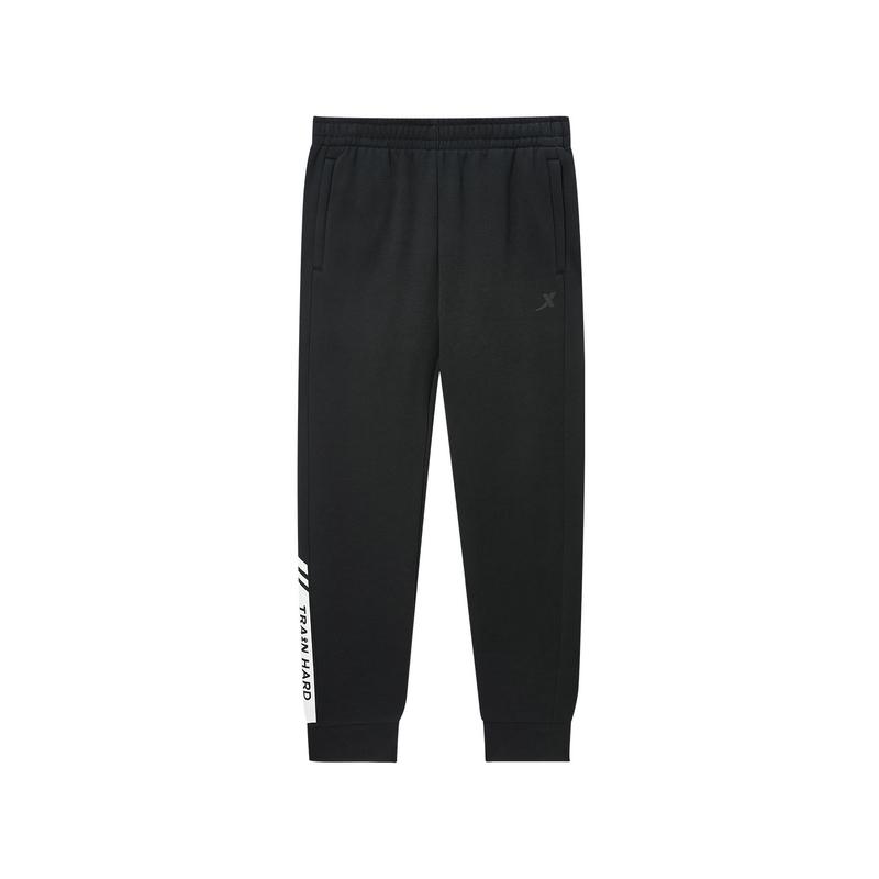 特步 专柜款 男子运动针织长裤 冬季保暖简约时尚小脚针织长裤981429630217