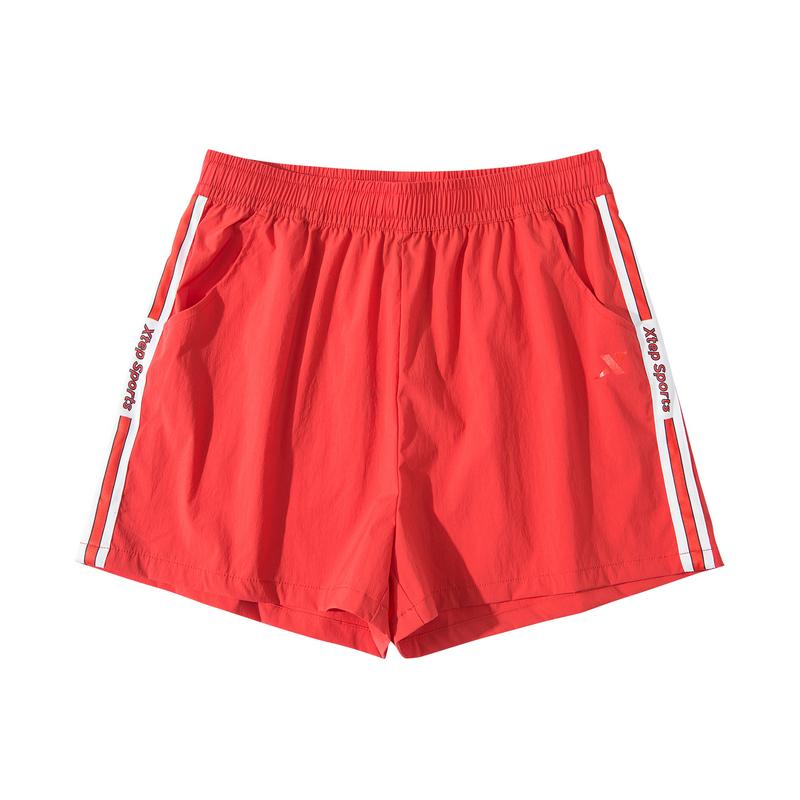 特步 专柜款 运动短裤女梭织轻薄透气女裤981228240155