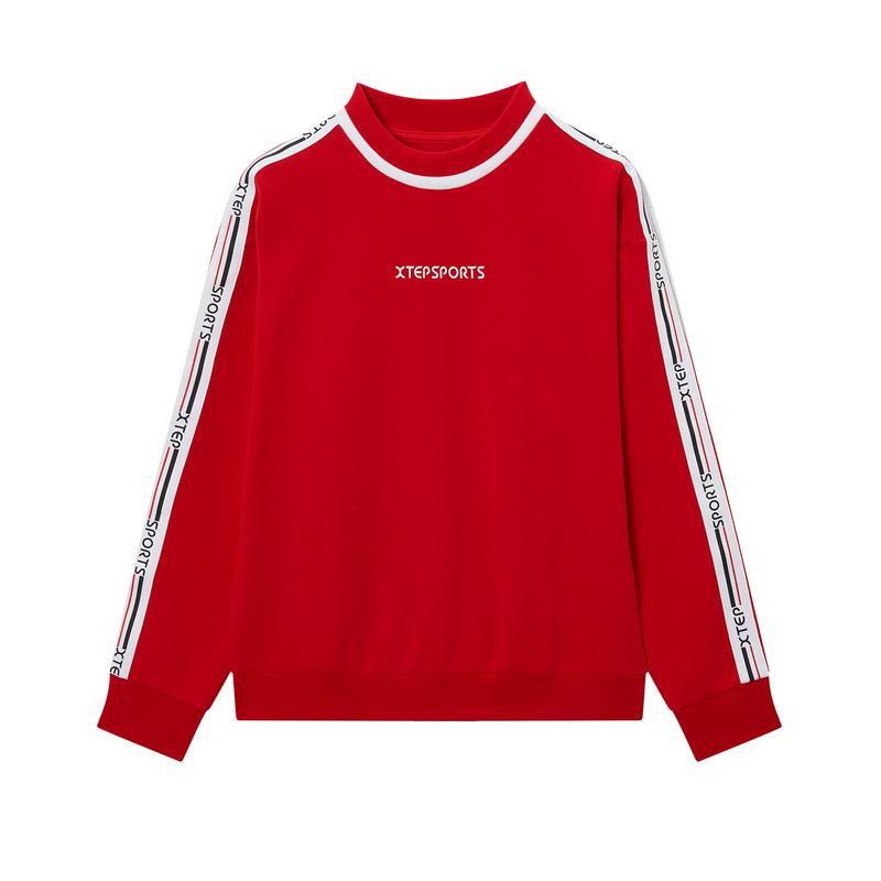 特步 专柜款 女子卫衣 2019冬季新款综训运动套头卫衣981428920224