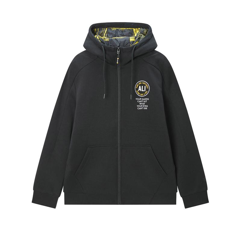 特步 专柜款 男子棉服 2019冬季新品运动棉服夹克运带帽动服运动外套981429070032
