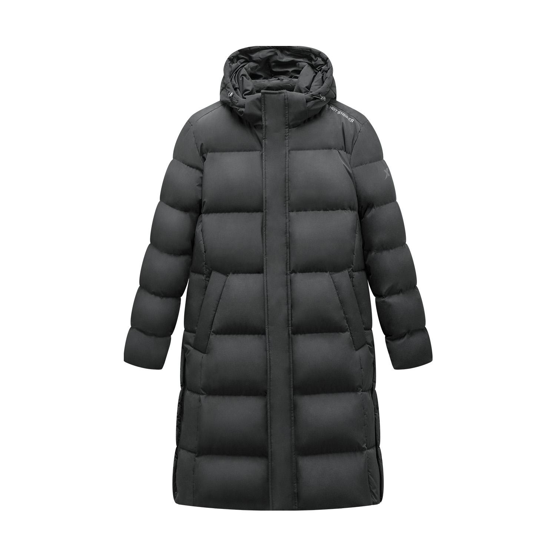 特步 专柜款 男子羽绒服 2019冬季新款保暖防风连帽长款外套981429190105