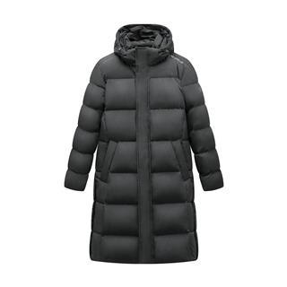 特步 专柜款 男子羽绒服 保暖防风连帽长款外套981429190105