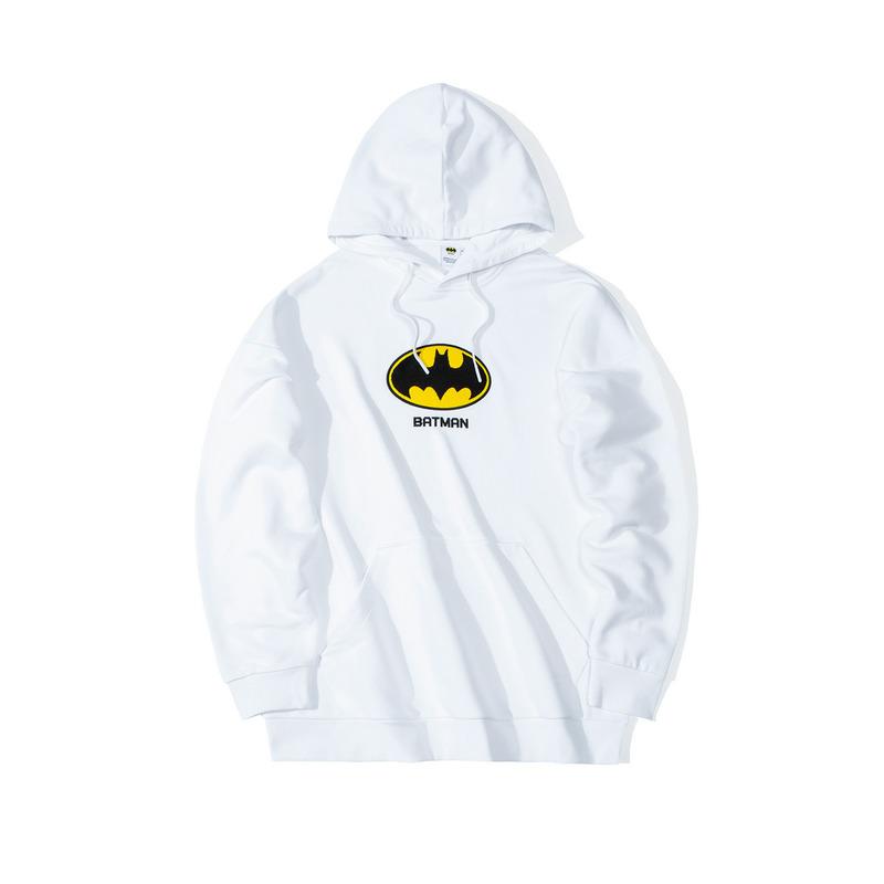 【DC蝙蝠侠联名款】特步 男女款卫衣 19冬新款情侣款连帽套头衫881427059215