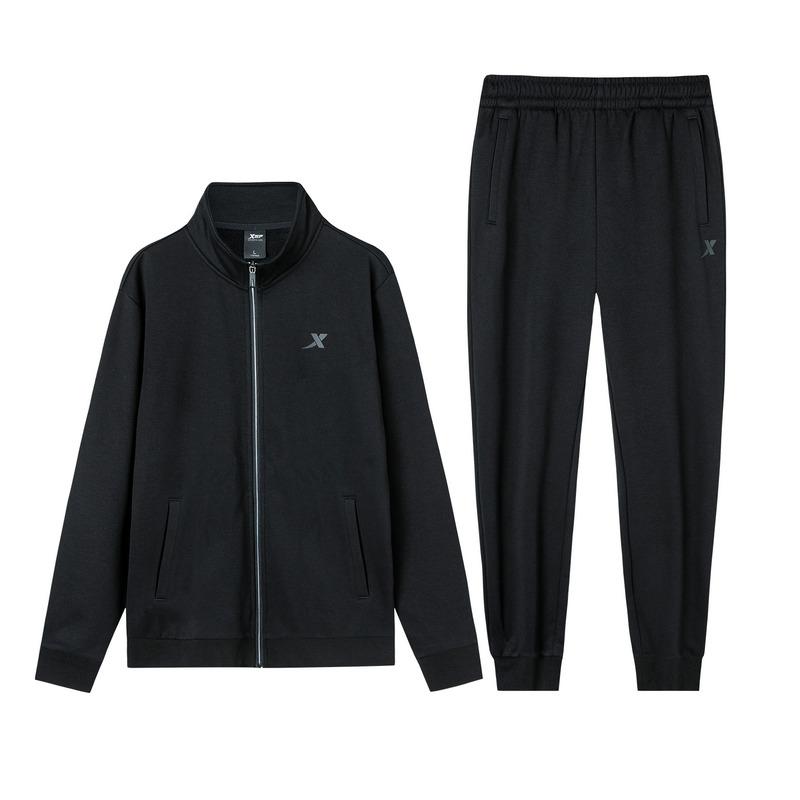 【加绒款】特步 男子针织套装 19冬新款加绒针织外套长裤两件套881429969261