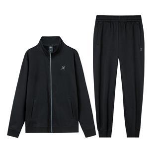 【加绒款】特步 男子针织套装 加绒针织外套长裤两件套881429969261
