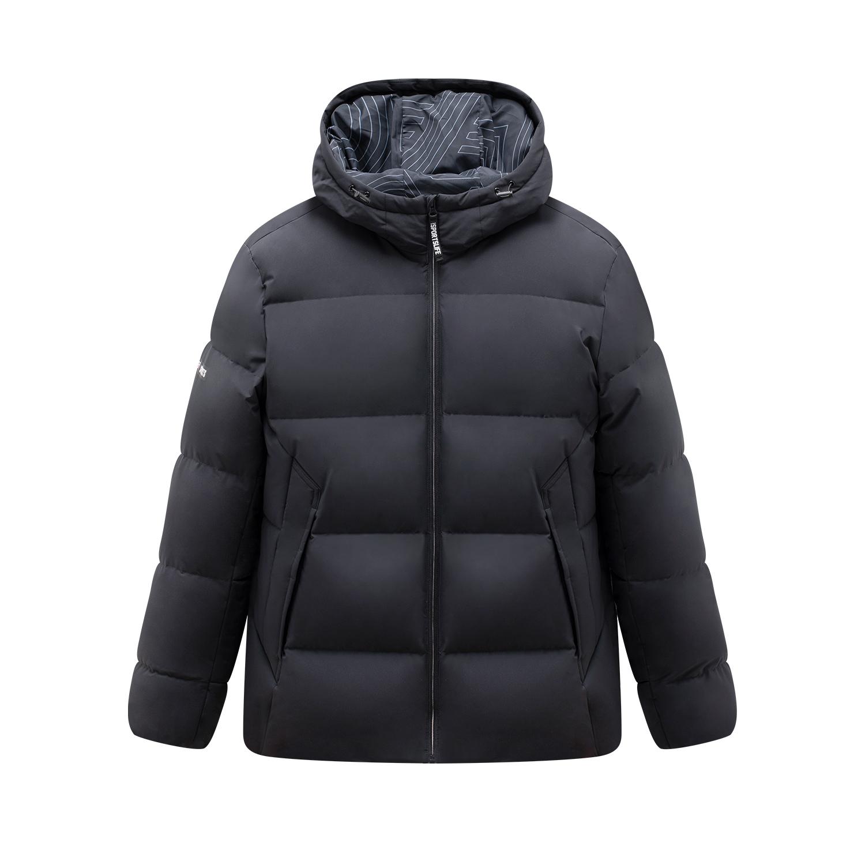 特步 专柜款 男子羽绒服 2019冬季新款加厚保暖运动连帽上衣981429190361