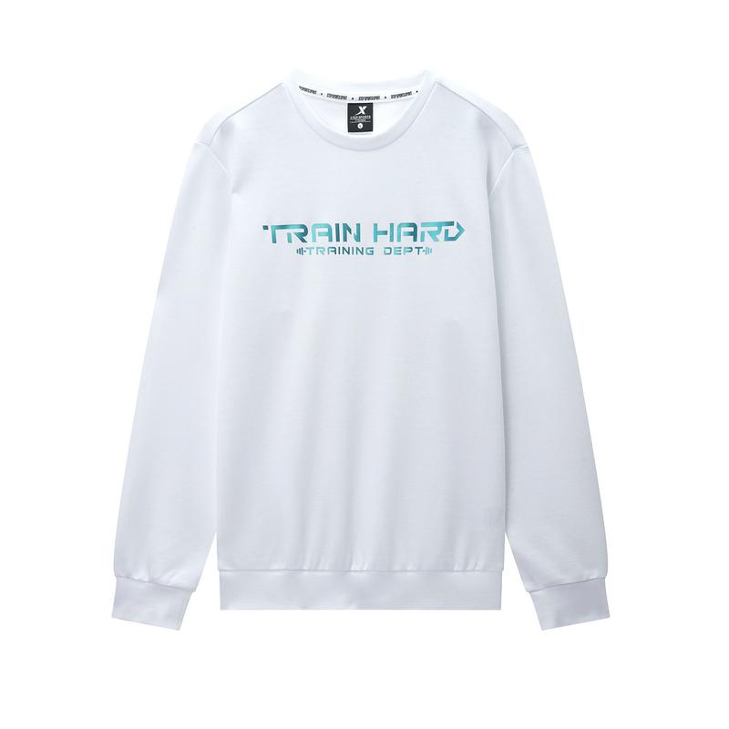 特步 男子春季新款运动综训舒适柔软套头圆领卫衣880129050208