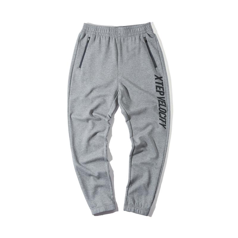 特步 男子春季新款都市活力时尚百搭收口小脚针织长裤880129630070