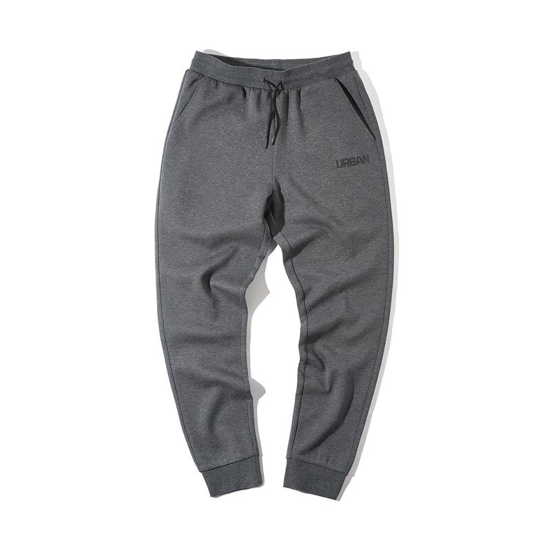 特步 男子春季新款都市活力收口舒适潮流针织长裤880129630152