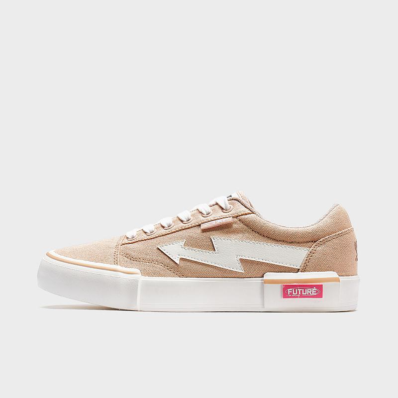 特步 女子帆布鞋 20新款时尚轻便运动滑板鞋休闲鞋880118100018