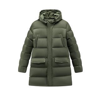 特步 男子羽绒服 保暖中长款连帽厚外套881429199240