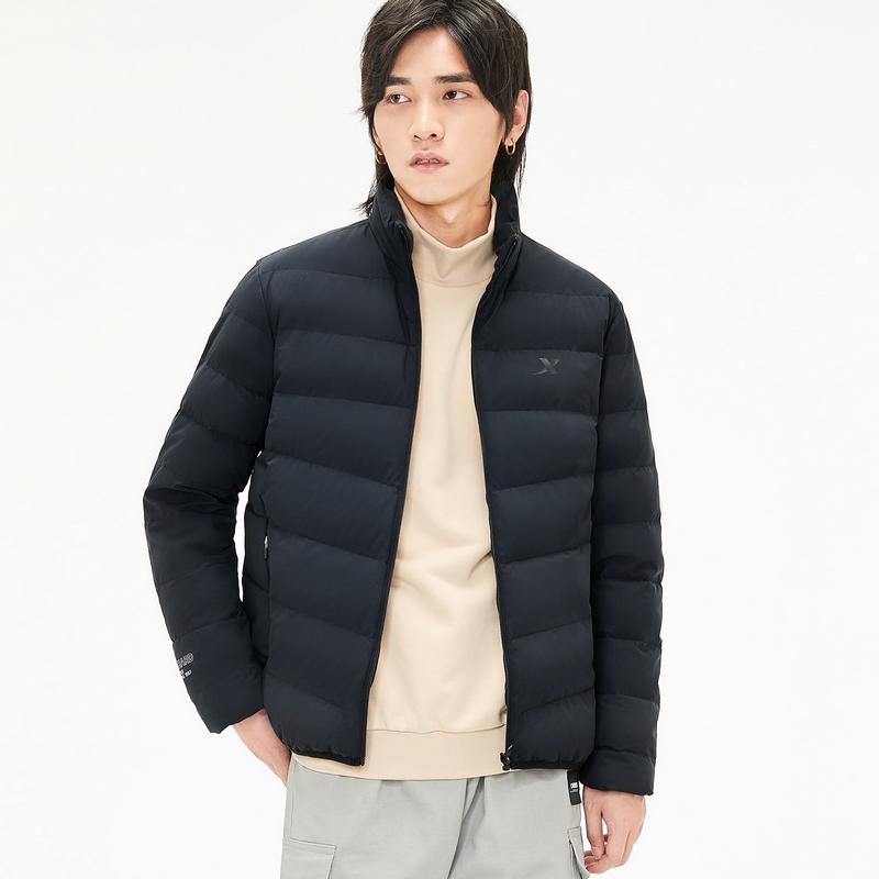 特步 男子羽绒服 19冬新款短款保暖外套881429199244