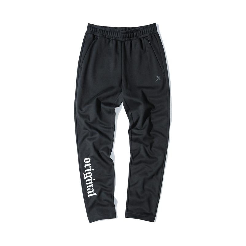 特步 专柜款 女子春季新款直筒拉链口袋针织九分裤880128A20138