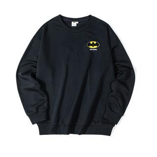 【DC蝙蝠侠联名款】特步 男子卫衣 19新款背后印花套头衫881429059220