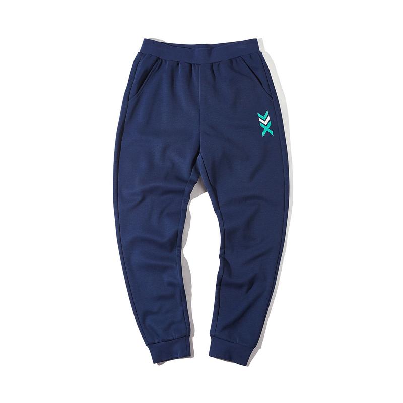 特步 男子春季新款都市休闲时尚百搭收口小脚针织长裤880129630057