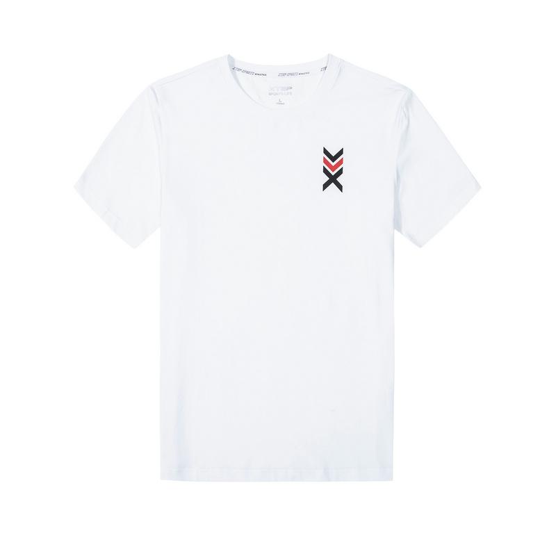特步 男子春季新款活力都市时尚百搭简约短袖T恤880129010214