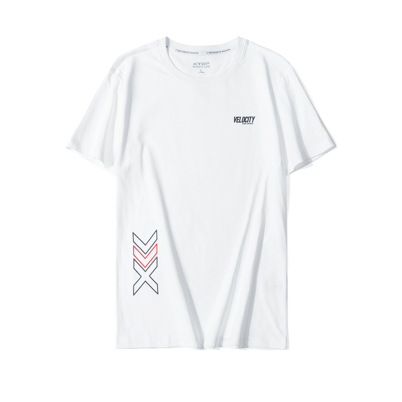 特步  男子春季都市休闲时尚简约百搭新款短袖T恤880129010215