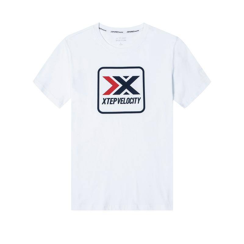 特步  男子新款活力时尚百搭舒适透气短袖T恤880129010216