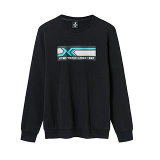 特步 男子春季潮流时尚运动休闲综训套头卫衣880129050209