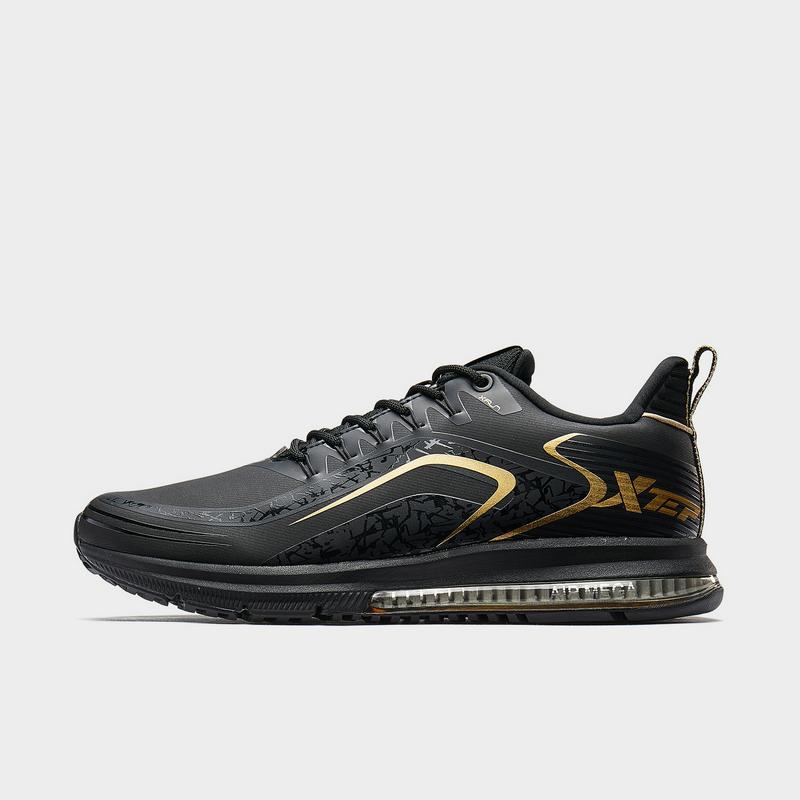 特步 专柜款 男子跑鞋 19新款革面气垫运动鞋981419110509