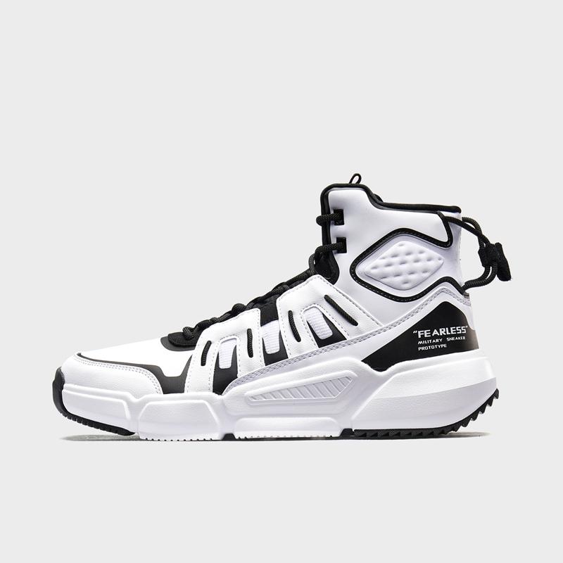 特步 专柜款 男子篮球鞋 19新款时尚街头包裹高帮运动鞋981419121237