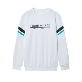 特步 专柜款 男子卫衣 圆领字母运动套头上衣981429920190