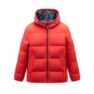 特步 专柜款 男子羽绒服 加厚保暖运动连帽上衣981429190361