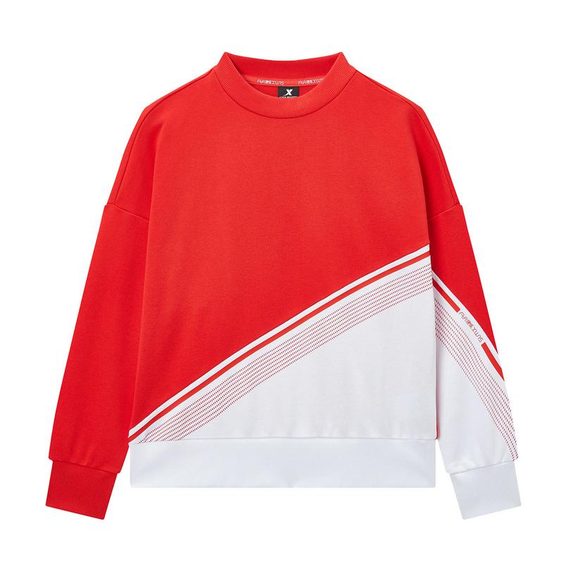 特步 专柜款 女子卫衣 2020年春季新款健身运动套头衫980128920085