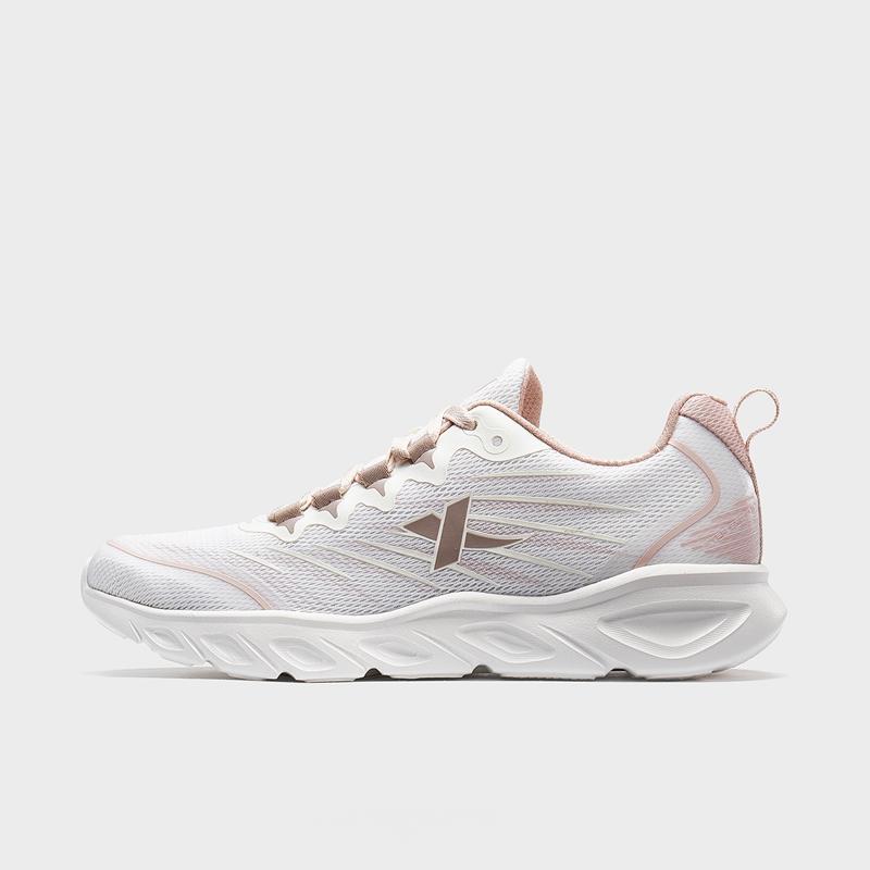 特步 女子跑鞋 2020春新款网面软底轻便情侣运动跑步鞋880118110078