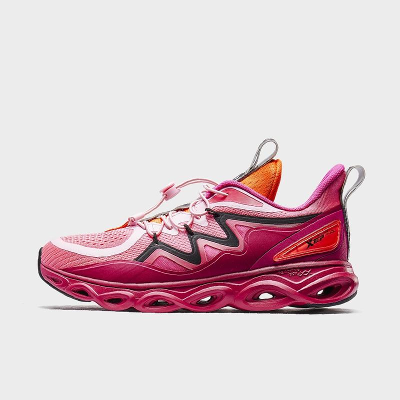 【荷兰屋联名款】特步 专柜款 女子跑鞋 19冬新款减震旋运动鞋981418110001