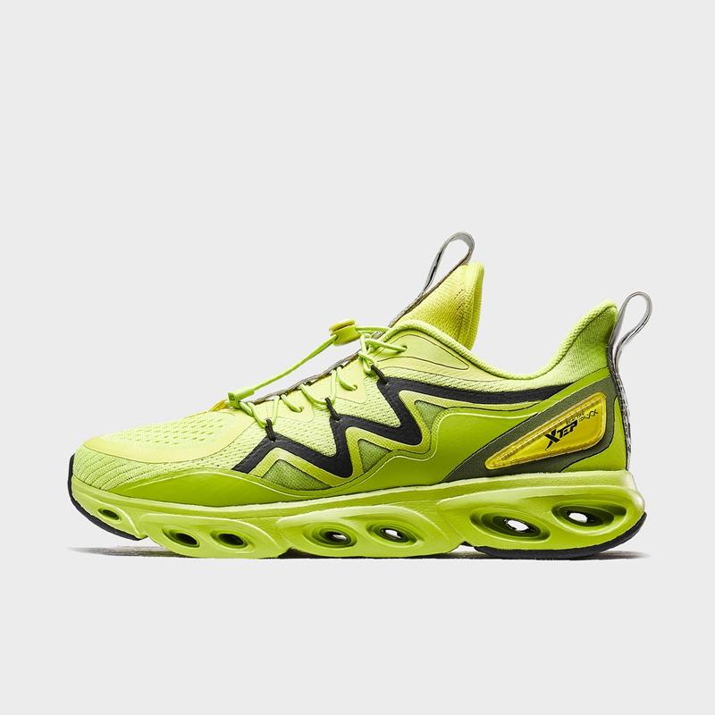【荷兰屋联名款】特步 专柜款 男子跑鞋 19冬新款自动系带减震运动鞋981419110001