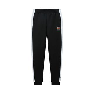 特步 专柜款 女子针织长裤 20年春新款侧边条纹运动裤980128630373