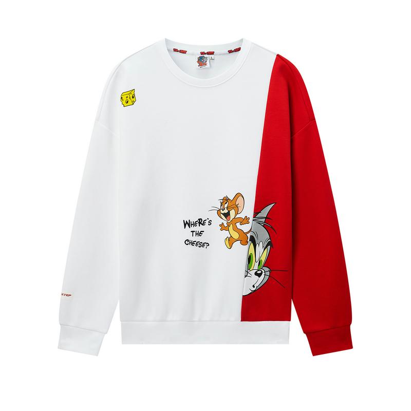 【暖春焕新】【猫和老鼠联名款】特步 专柜款 男子卫衣 20年春新款休闲套头衫980129920468