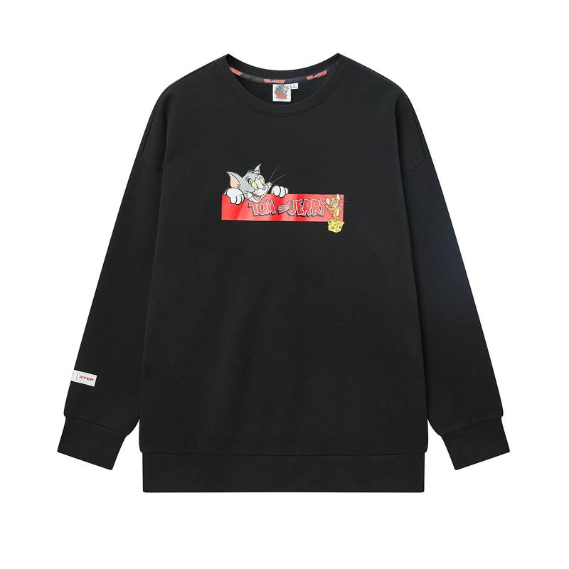 【猫和老鼠联名款】特步 专柜款 男子卫衣 20年春新款卡通印花时尚套头衫980129920418