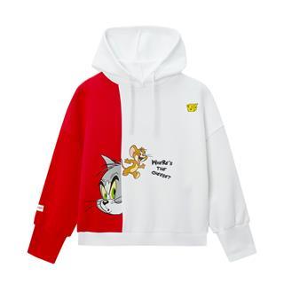 【猫和老鼠联名款】特步 专柜款 女子卫衣 20年景甜同款连帽套头衫980128930419