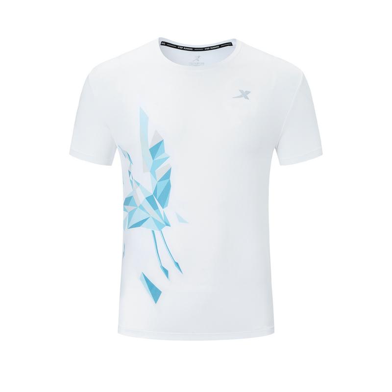 特步 专柜款 男子春季马拉松跑步专业T恤厦门马拉松纪念款981329010597