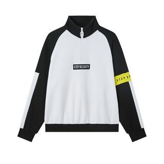 特步 专柜款 女子卫衣 20年春新款拼色时尚套头衫980128920337